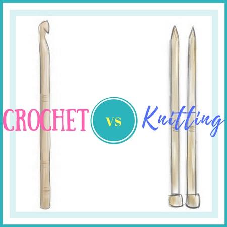 crochet v knitting needles
